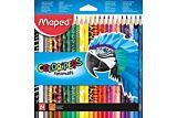 Creioane colorate, 24 buc/set, Animals