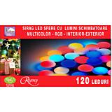 Instalatie tip sirag 120 leduri, interior exterior, multicolor