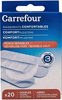 Pansamente piele sensibila, Carrefour, 20 bucati