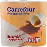 Prosoape de hartie Carrefour 3 straturi, 2 role