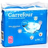 Scutece deschise incontinenta adulti marime XL Carrefour 14buc