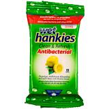 Servetele umede antibacteriene cu parfum lamaie Hankies 15 buc