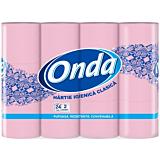 Hartie igienica, Onda Pink, 2 straturi, 24 role