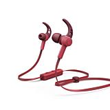 Casti bluetooth in-ear Hama Connect, microfon, carlige ureche, cablu plat, Rosu