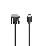 Cablu Hama 200715, HDMI-DVI, 1.5 M, 4k, Negru
