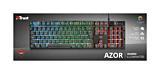 Tastatura gaming Trust AZOR GXT835, Iluminare RGB