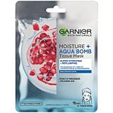 Masca servetel cu rodie, pentru hidratare intense, Garnier Moisture+, 32g