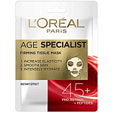 Masca servetel antirid pentru fermitate 45+, LOreal Paris Age Specialist, 30g