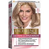 Vopsea de par L'Oreal Paris Excellence, 9.1 Blond foarte deschis cenusiu, 192 ml