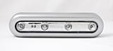 Lampa ovala de veghe Flink, 4 LED-uri, cu senzor tactil, 0.3 W, Argintiu