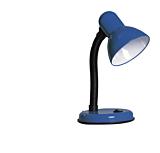 Lampa birou cu intrerupator Clasic Erste, 1 x max. 60W, E27, cablu alimentare 0.7 m, Albastru