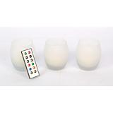 Candela LED RGB in forma de ou, set 3 bucati