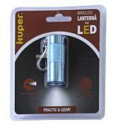 Minilanterna breloc Kuper, 3 LED-uri, buton pornit/oprit, baterii 3xLR44, Albastru