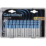 Set 30 baterii alcaline LR6/AA I-Tech Carrefour