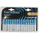 Set 30 baterii alcaline LR6(AA) I-Tech Carrefour