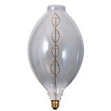 Bec LED decorativ mare cu filament BT180, stil vintage, soclu E27, 2700 K, 25 W, Gri fumuriu