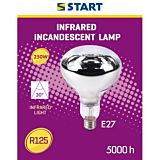 Lampa incalzire de interior R125 Start, incandescenta, cu infrarosu, 250 W