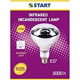 Lampa incalzire de interior R125 Start, incandescenta, cu infrarosu, 375 W