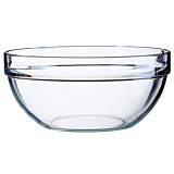 Bol 26 cm suprapozabil sticla transparenta, Luminarc