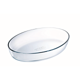 Vas din sticla termorezistenta oval 30x21 cm, 2L, Pyrex