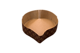 Forma de copt din hartie siliconata in forma de  inimioara, set 2 bucati