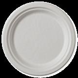 Set 8 farfurii biodegradabile rotunde 17 cm