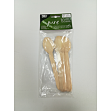 Set 10 linguri lemn 15.7 cm biodegradabile