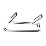Suport de prosop hartie Easyroll Lava Metaltex, pentru usa dulap sau etajera, 35x18x10 cm, Negru