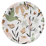 Set 12 farfurii rotunde cu model Mura Biodeck, carton, 18 cm, Multicolor