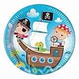 Pirati set 8 farfurii din carton 23 cm, compostabile