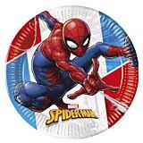 Spiderman set 8 farfurii din carton 23 cm, compostabile