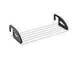 Uscatorul de rufe pentru balcon/calorifer Click Metaltex, metal/PP, 62X32cm, Argintiu/Negru