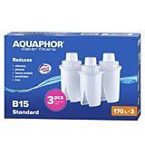Pachet 3 cartuse B15 Aquaphor, 150 L, Alb