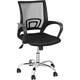 Scaun de birou ergonomic Mesh, 43-53 x 49.5 x 88-98 cm, Negru