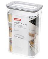 Cutie pentru depozitare alimente vrac Smart & Lumi Cyclops, 2.1 L, Transparent