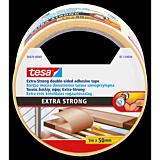 Banda dublu adeziva Extra Strong, mochete, interior-exterior, 5M50MM transparenta, Tesa
