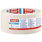 Banda mascare BASIC 50M x 50MM, crem, Tesa