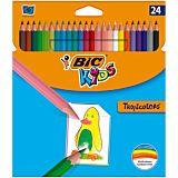 Creioane colorate Tropicolors BIC, 24 bucati