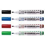 Marker pentru tabla Stabilo Plan vf. 2.5-3.5mm 4buc/um