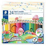 Set creioane colorate Staedtler, forma hexagonala, 24 buc