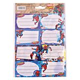 Set 40 etichete scolare Spiderman Pigna, Multicolor