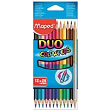 Creioane colorate Maped duo 24 culori