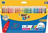 Markere ultralavabile  BIC Kid  Couleur 24 buc