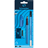 Set stilou + pic + 6 rezerve, albastru, Schneider