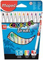 Carioca Maped Color'Peps Brush 10 culori/set