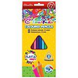 Set 12 creioane colorate triunghiulare Colour Kids Playful Colours, Multicolor