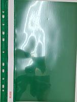 Dosar cu 11 gauri Biurfol, PVC, Verde