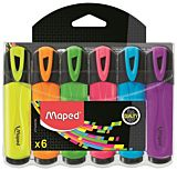 Set 6 markere Fluo Peps' Classic Maped, Multicolor
