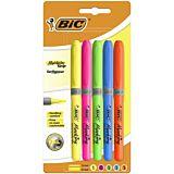 Set 5 evidentiatoare BIC Highlighter Grip, varf mediu tesit, Multicolor