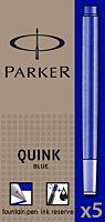 Patroane cerneala Parker Quink, lungi, albastru, 5buc cutie